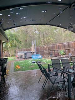 Sadly our home was hit by the recent hail storm